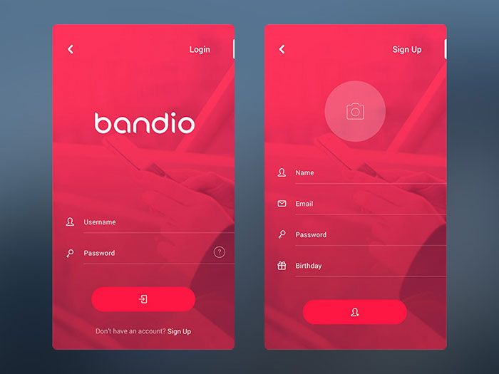 mobile user interface login form design inspiration ui design ideas - Ui Design Ideas