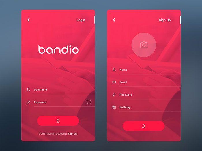 Mobile User Interface Login Form Design Inspiration | Mobile ...