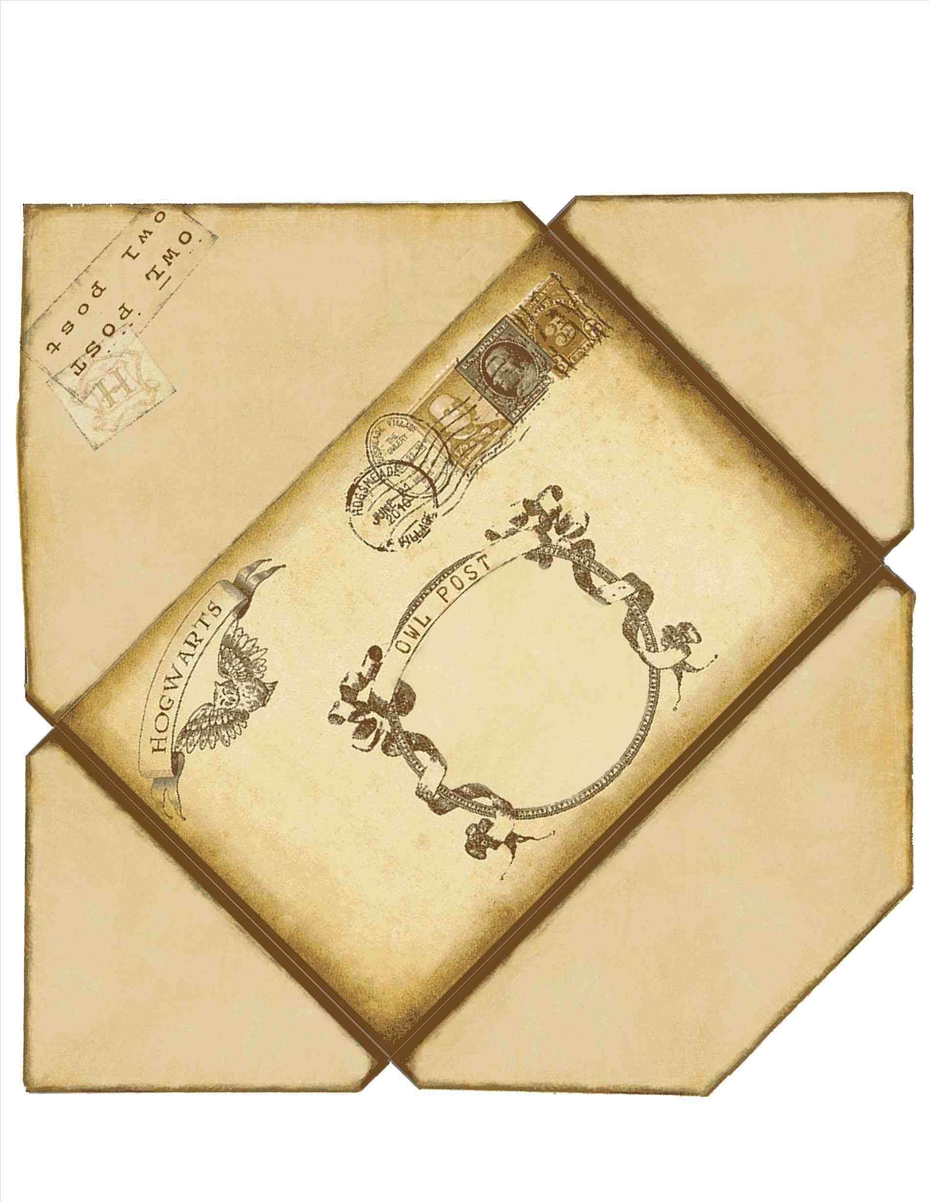 harry harry potter envelope template