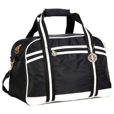 Amazon.com: Fashionable Versatile Classic Black Sports Gym Tote Travel Carryon Equipment Duffle Bag Bowler Bowling Handbag Satchel Daybag: MyGift
