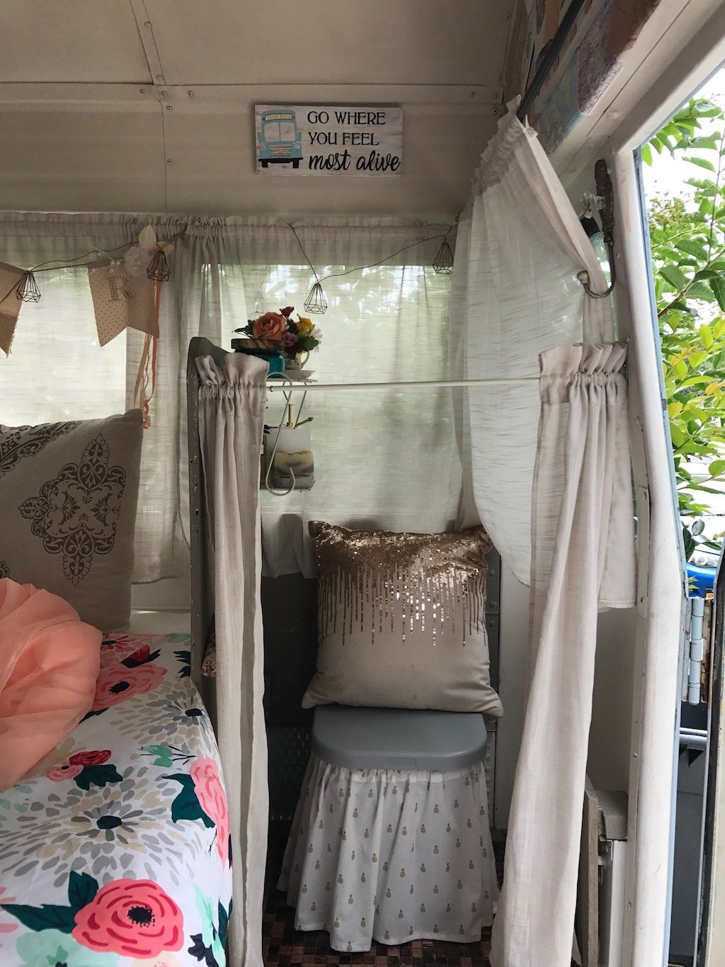 Young Woman Learns How To Convert A School Bus Into Tiny Home On Wheels From Her Mom