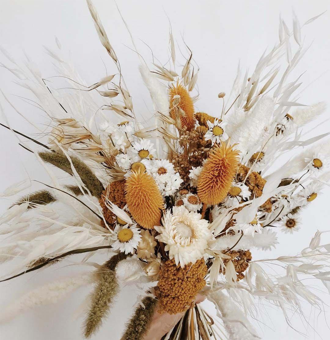 Sun Bleached Blooms Dried flower bouquet, Wedding