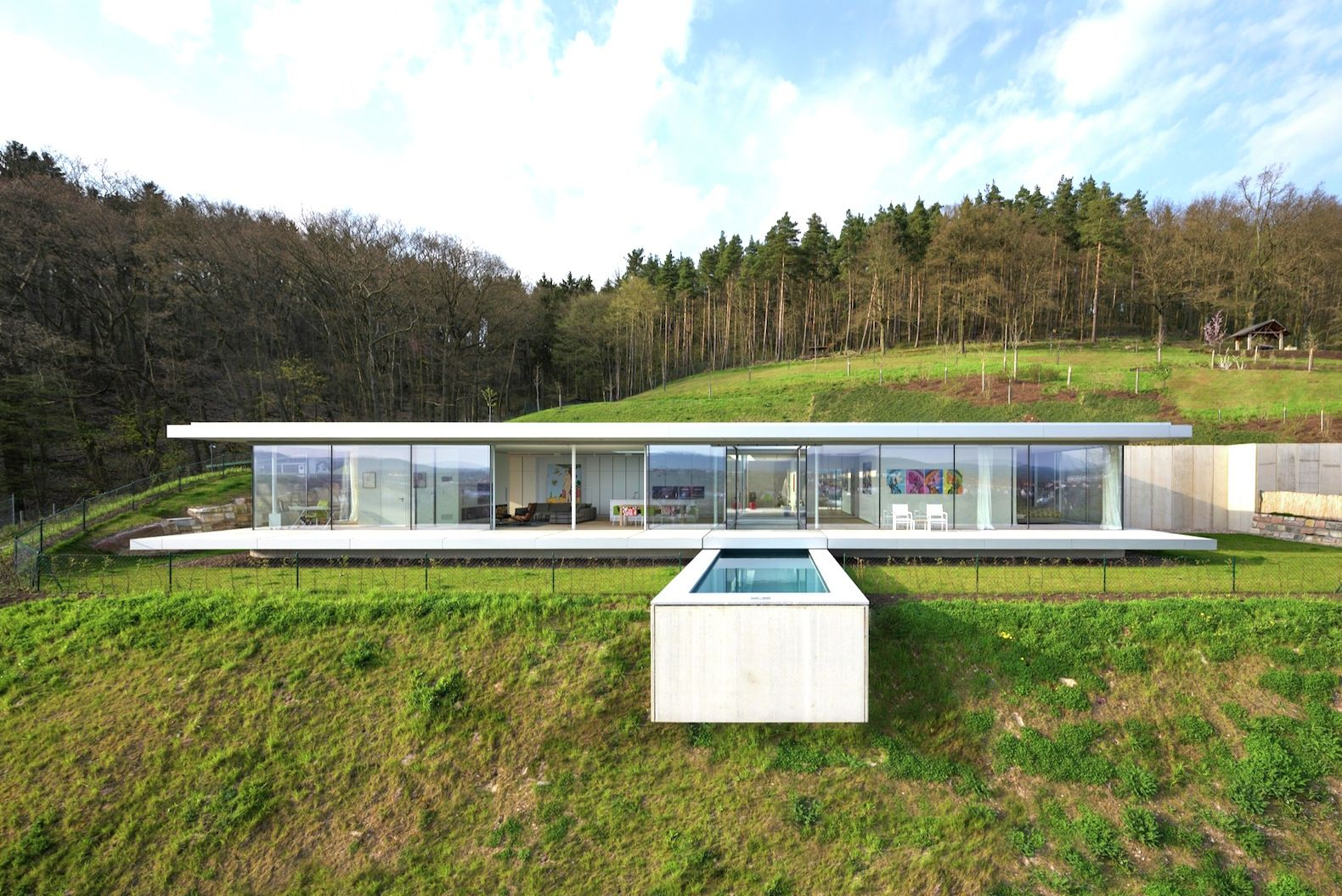 Green-roofed Villa K offers amazing valley views with a minimal environment footprint