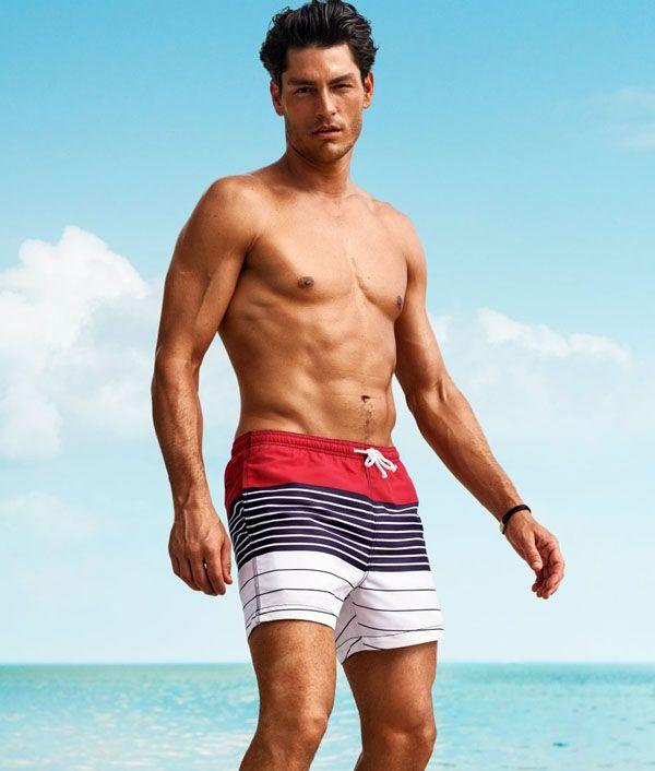 4ddddf4f12 Tyson Ballou Hits the Beach in H&M Swimwear | Swimwear | How Men ...