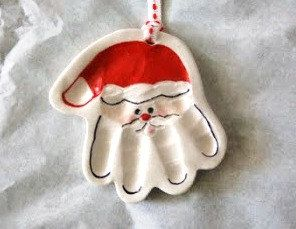 34c4de324 Baby Handprint Santa Ornament - Custom Baby Christmas Ornament ...