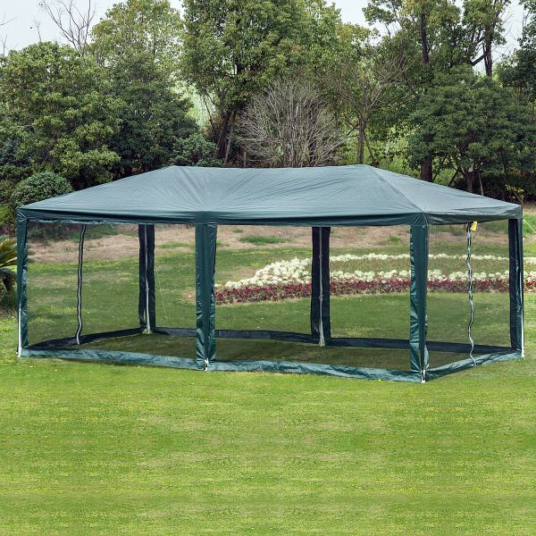 Outsunny 10' x 20' Gazebo Canopy Cover with Removable Mesh