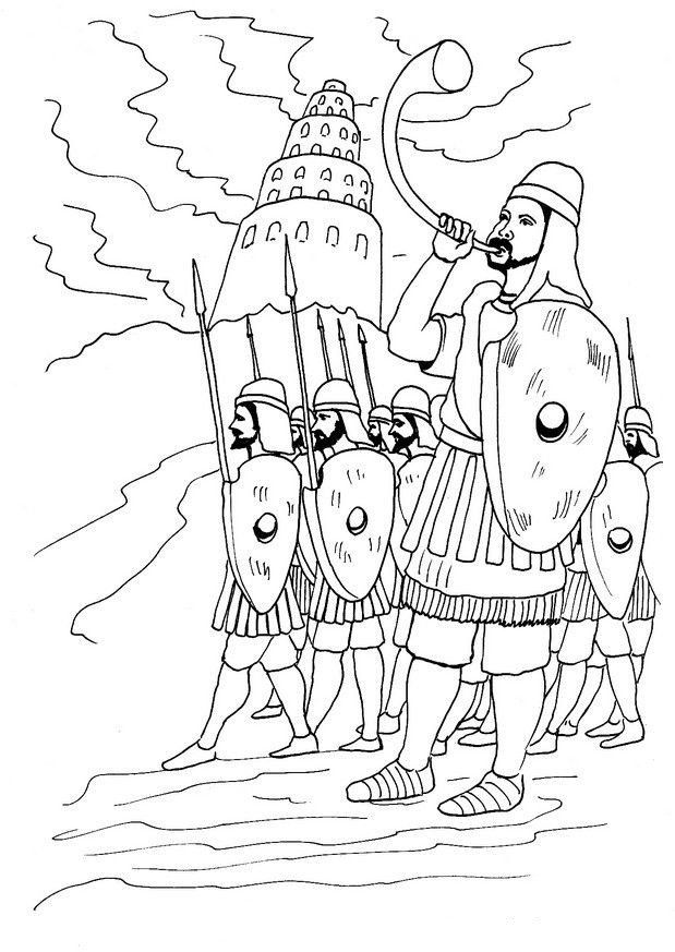 Tower Of Babel Coloring Page tower Of Babel Coloring Pages ...
