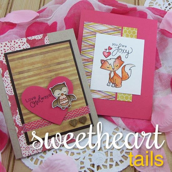 Sweetheart Tails Stamp set by Newton's Nook Designs. Sweet Animals for Valentines Day & Love Cards!  http://www.newtonsnookdesigns.com/