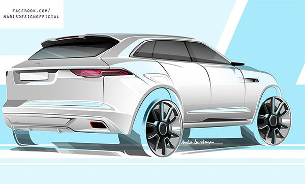 Jaguar Suv Sketch Of The Day By M Dumitrascu The