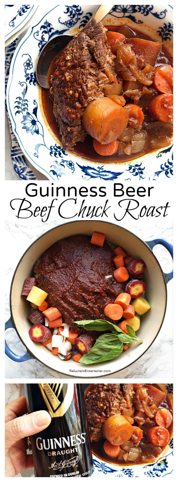 Guinness Beer Beef Chuck Roast Recipe Beef Recipes Beef Chuck Roast Roast Recipes