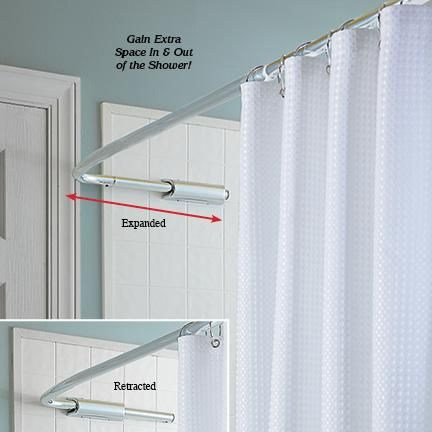 Retractable Curtain Rods Gifts Pinterest Curtains And Bathroom