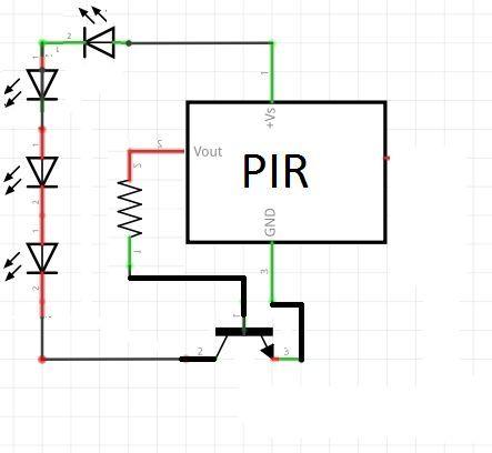 How To Make A Simple Motion Sensor Led Light Revisited Pir Motion Sensor Sensor Motion Sensor Lights