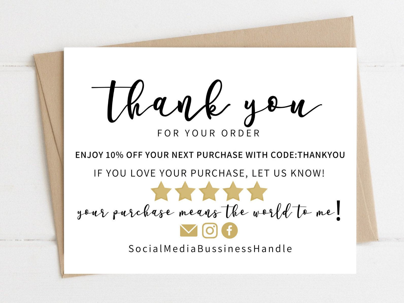 Instant Download Thank You Card Editable And Printable Thank You Cards Thank You Card For Business Simple Thank You Business Cards Printable Thank You Cards Thank You Cards Thank You Card