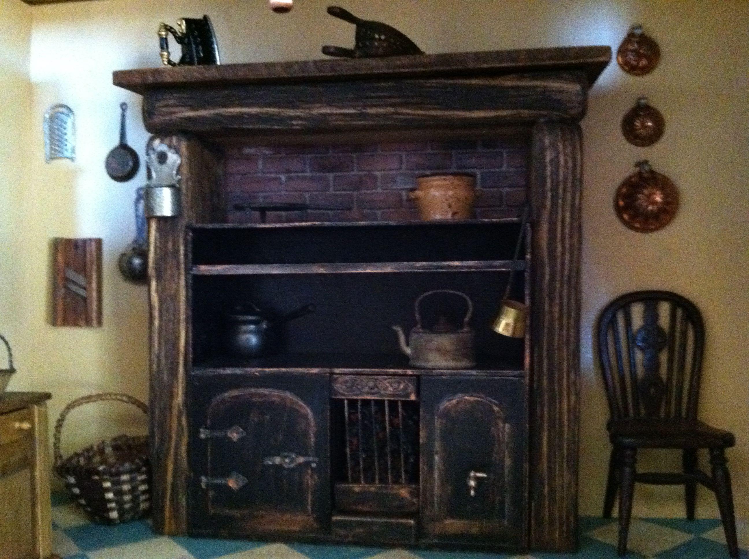 Detail Of 1820 Kitchen Range In My Georgian Dollhouse, Detail