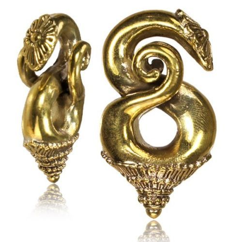 PAIR 2g SILVER TONE SKULLS WHITE BRASS 6mm EAR WEIGHTS PLUGS TUNNELS GAUGE