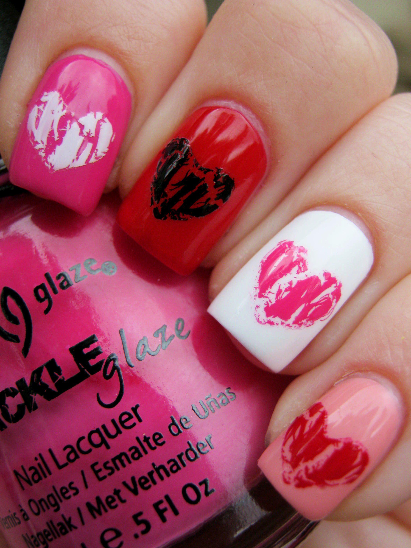 Happy Valentine Nail Art Uñas Decoradas 3 Pinterest Manicuras