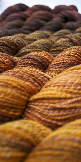 I love the colors together and just the sea of yarn.