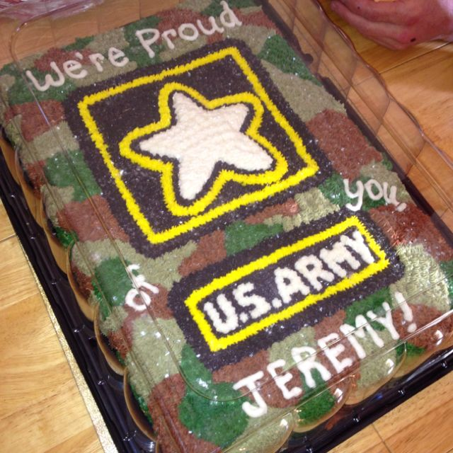My Husbands Cake For His Going Away Party Army Cake Military