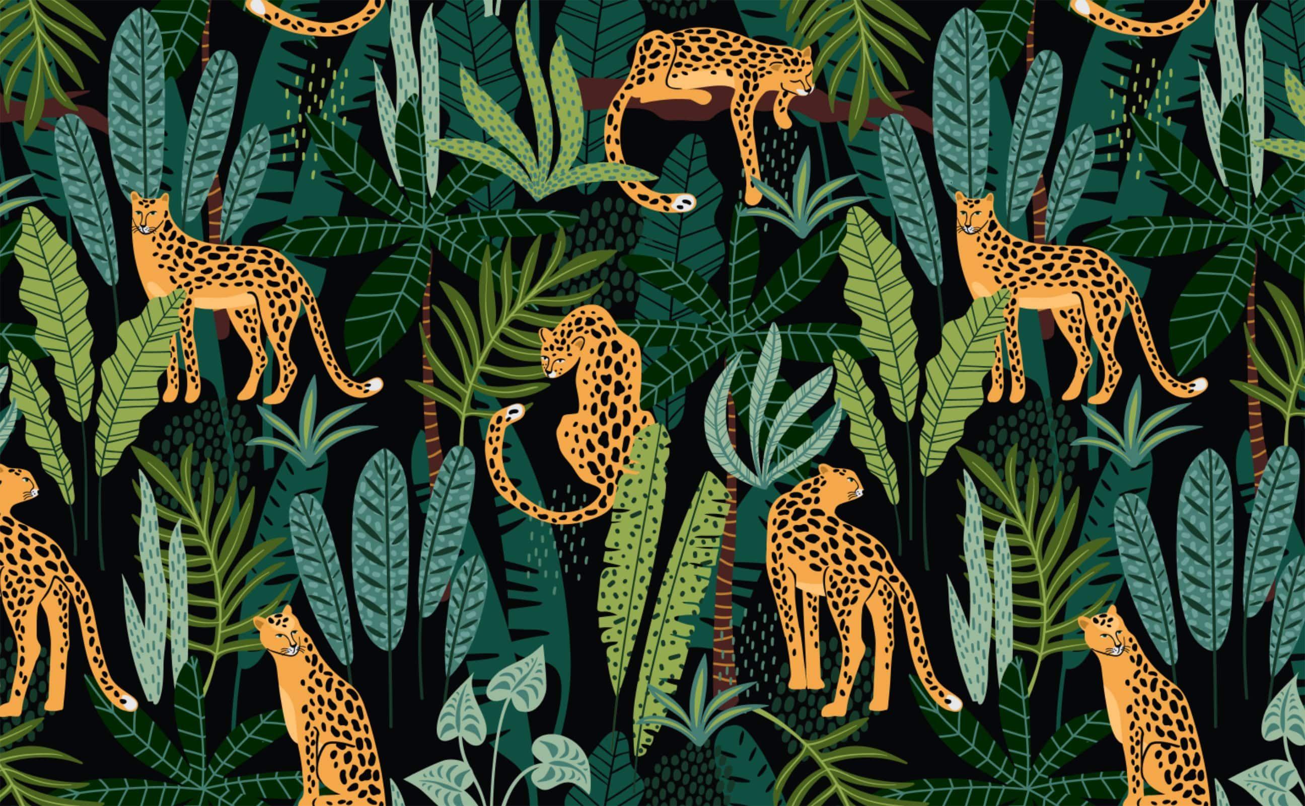 Midnight Prowl Bohemian Wallpaper Wallpaper Pattern Wallpaper