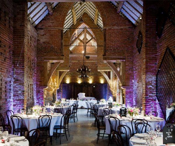 Shustoke Farm Barns Set Up For A Wedding Reception