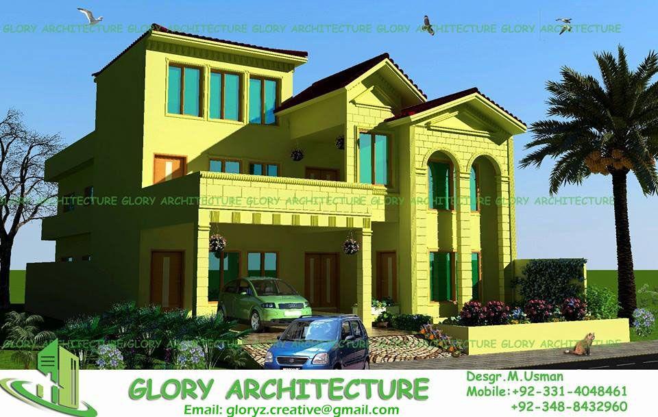 3D view, 3D elevation, 3D home elevation, 3d house elevation, 3D ...