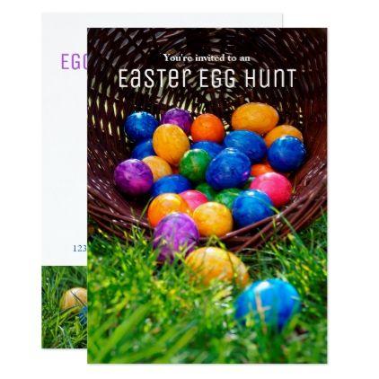 Easter egg hunt photo invitation easter egg hunt photo invitation photos gifts image diy customize gift idea negle Gallery