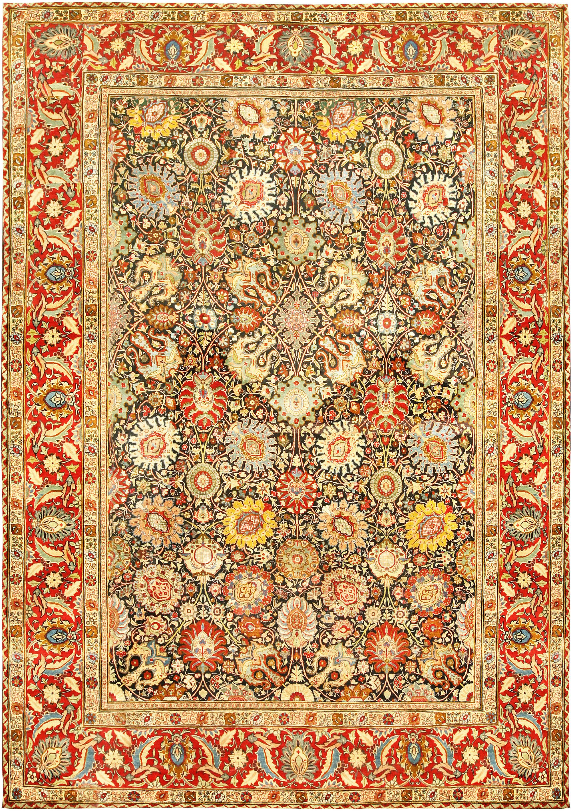 Antique Persian Tabriz Rug Size Adjusted Tabriz Rug Persian Tabriz Rug Antique Carpets