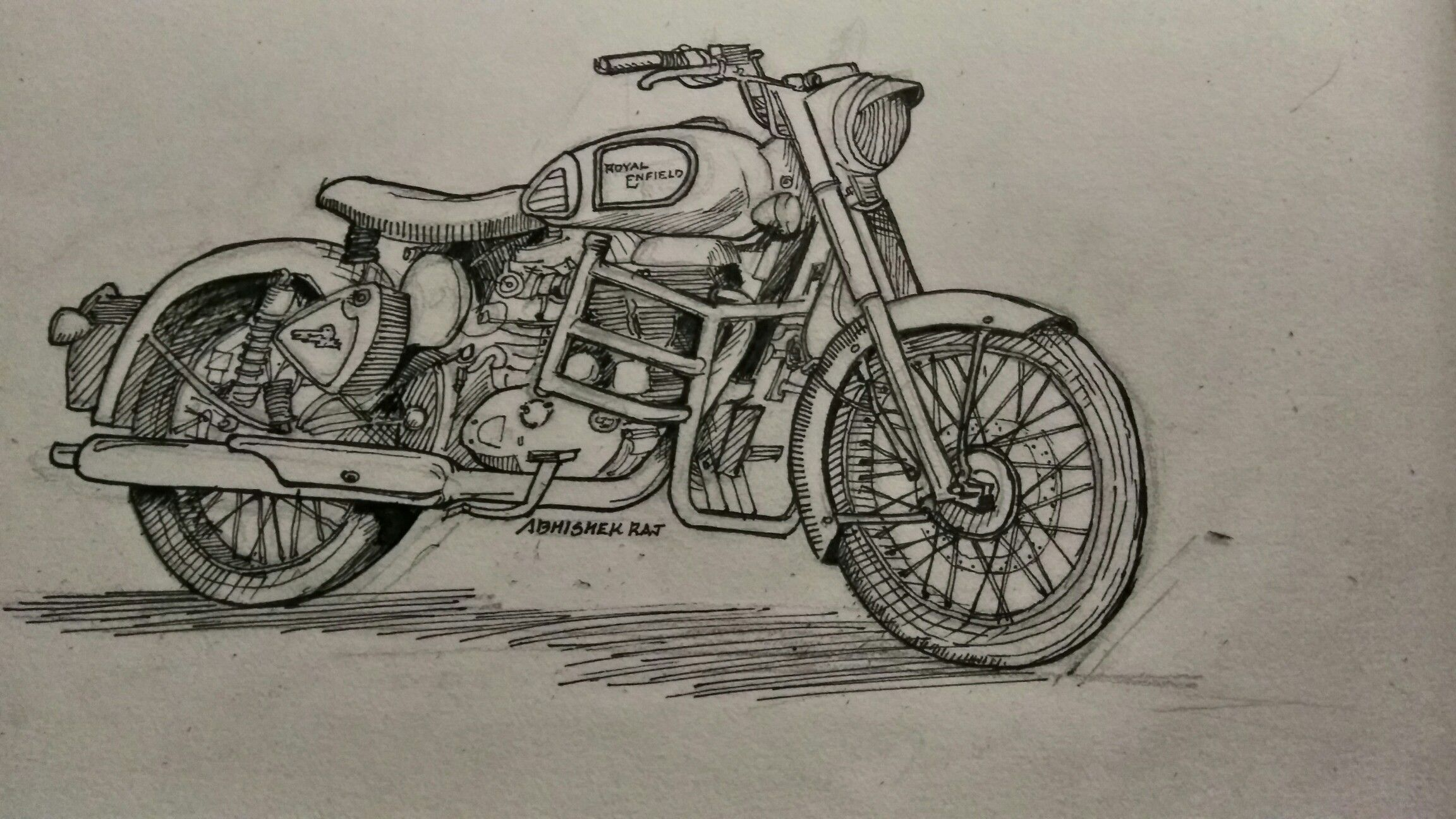 Royal enfeild classic 350 sketch