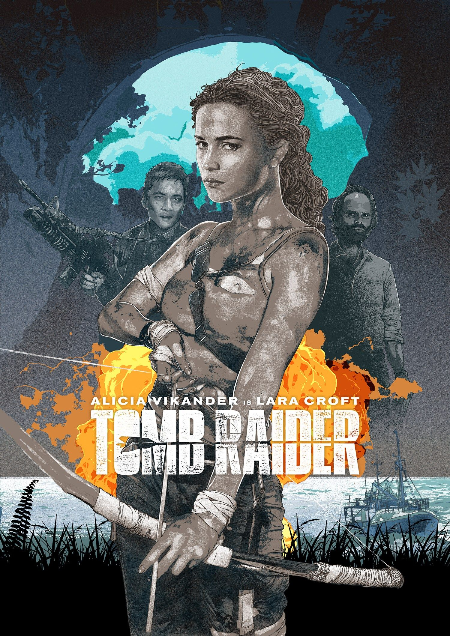 Lara Croft Tombraider Poster Blue Tomb Raider Movie Tomb Raider