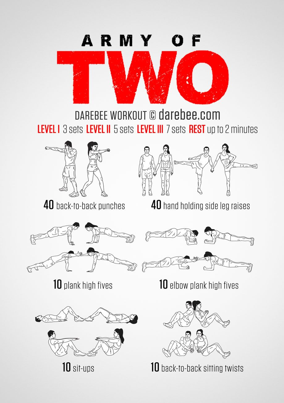 Army Of Two Workout Partner Workout Fit Couples Couples