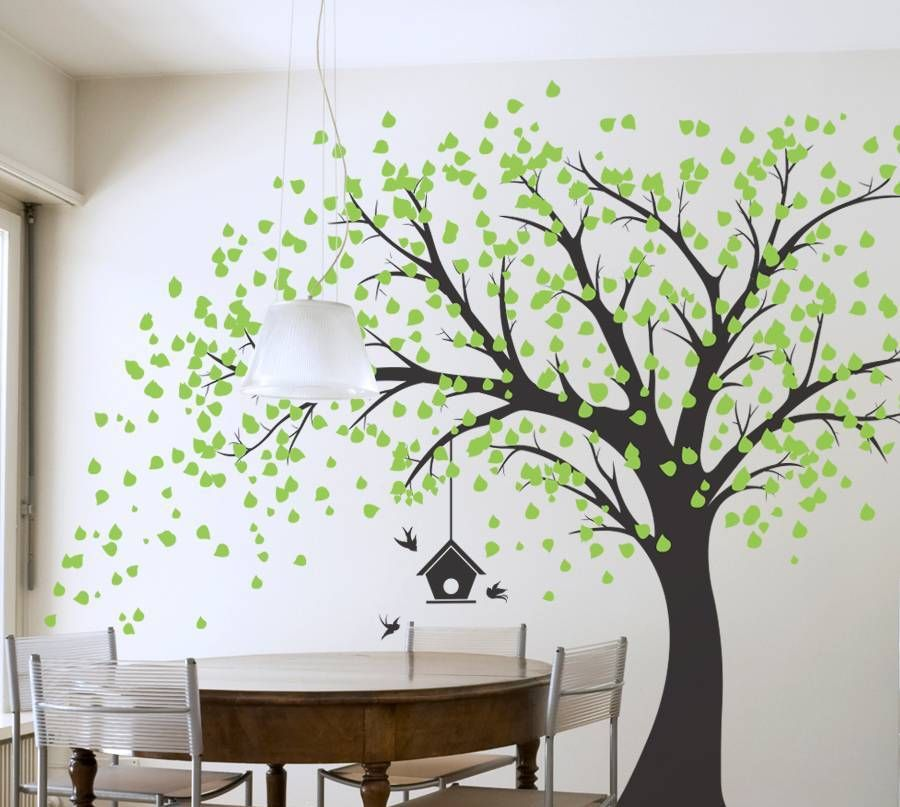 Superieur Wall Art Decor: Best Designing Tree Art For Walls Scary Bare Tree .