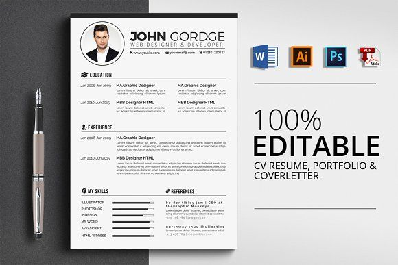 Cv Resume Cover Letter  Portfolio  Resumes Download Here