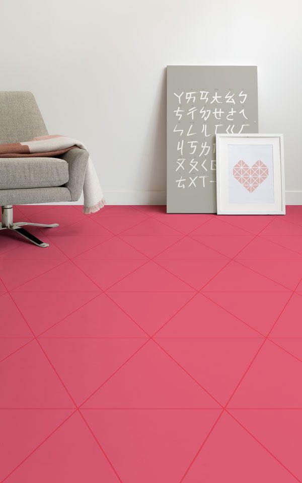 Geometric Diamond Pattern Flooring | Diamond pattern, Living room ...