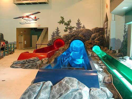 Home indoor pool with slide  Indoor Water Slide | Making an indoor water slide in your house ...