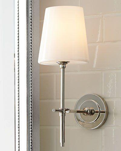 Visual Comfort Bryant Sconce With Glass Shade Bathroom Light Fixtures Bathroom Sconce Lighting Bathroom Sconces