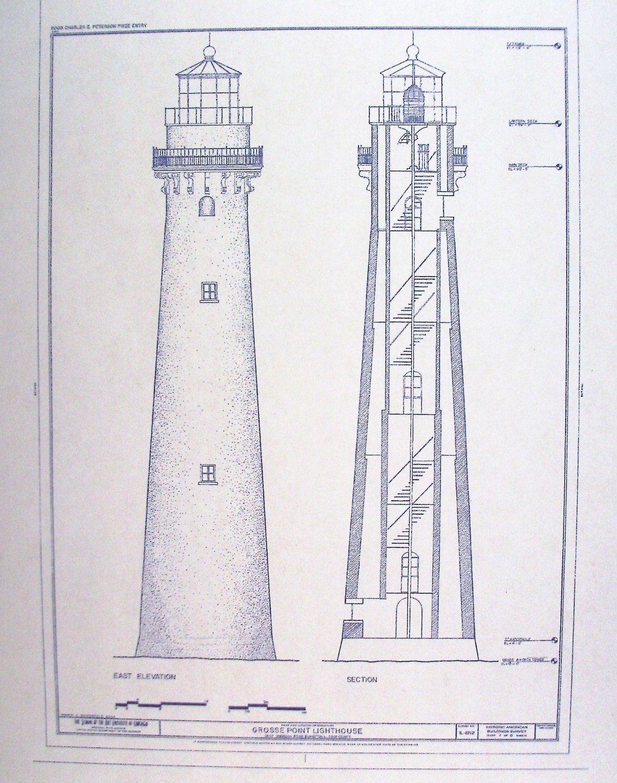 Grosse point lighthouse blueprint lighthouse pinterest grosse point lighthouse blueprint malvernweather Gallery