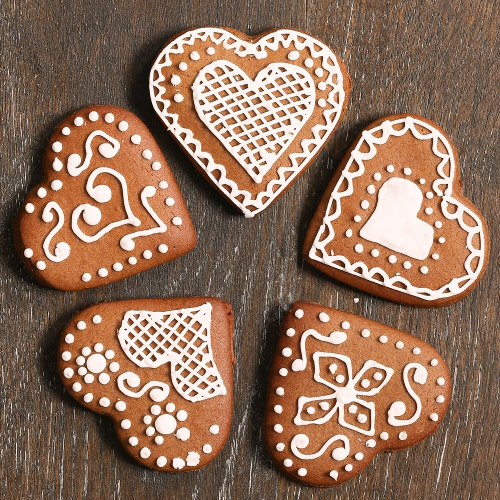 German Christmas Cookies.German Heart Biscuits
