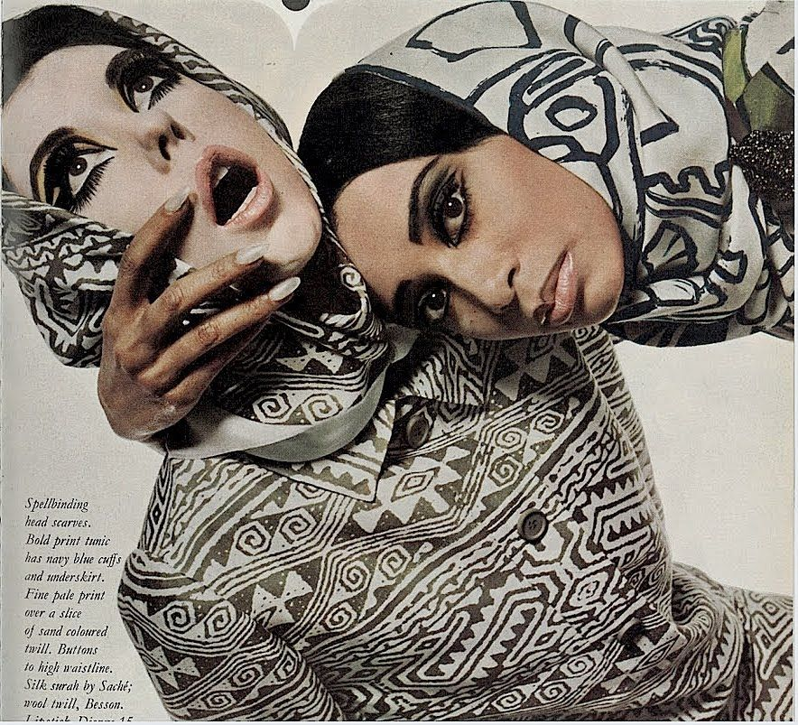 Christopher Niquet:peggy moffit. and donyale luna by david bailey