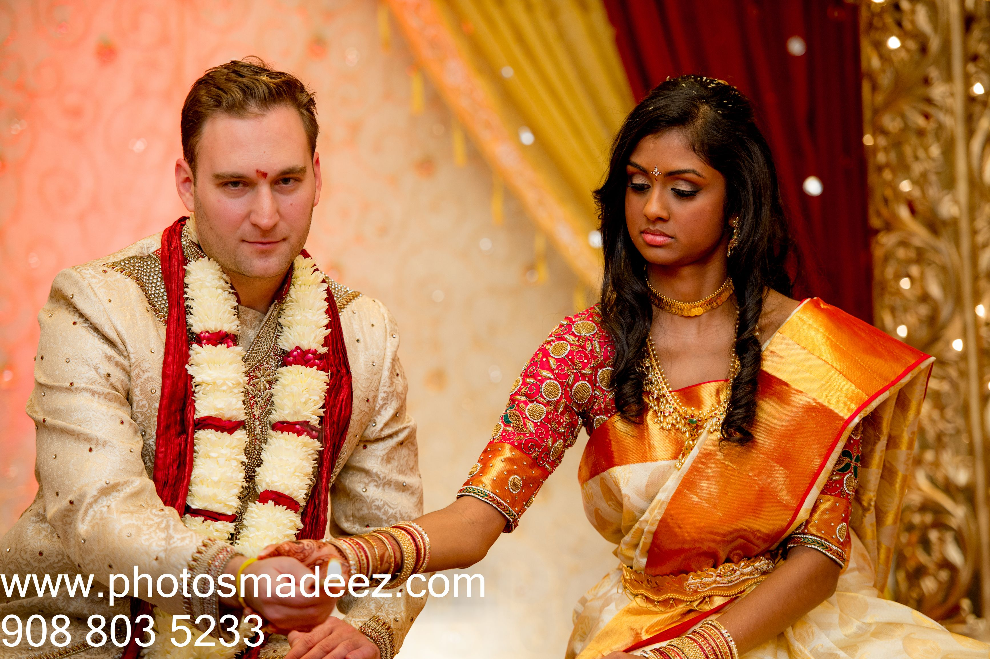 Bride And Groom At Indian Wedding Ceremony Mahwah Sheraton Mixed Interfaith