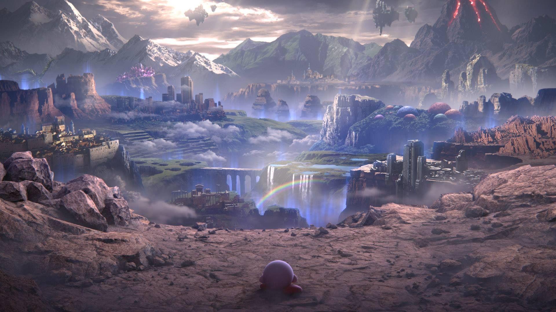 World Of Light Super Smash Bros Ultimate New Backgrounds Smash Bros Super Smash Bros