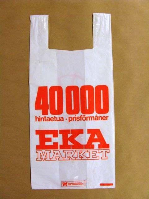 kassi; muovikassi; EKA market   Helsingin kaupunginmuseo   Finna - Helsingin kaupunginmuseo