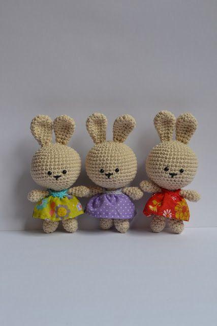 Es un Mundo Amigurumi: Patrón Gratis Coneja de Pascua!!!! | baby ...