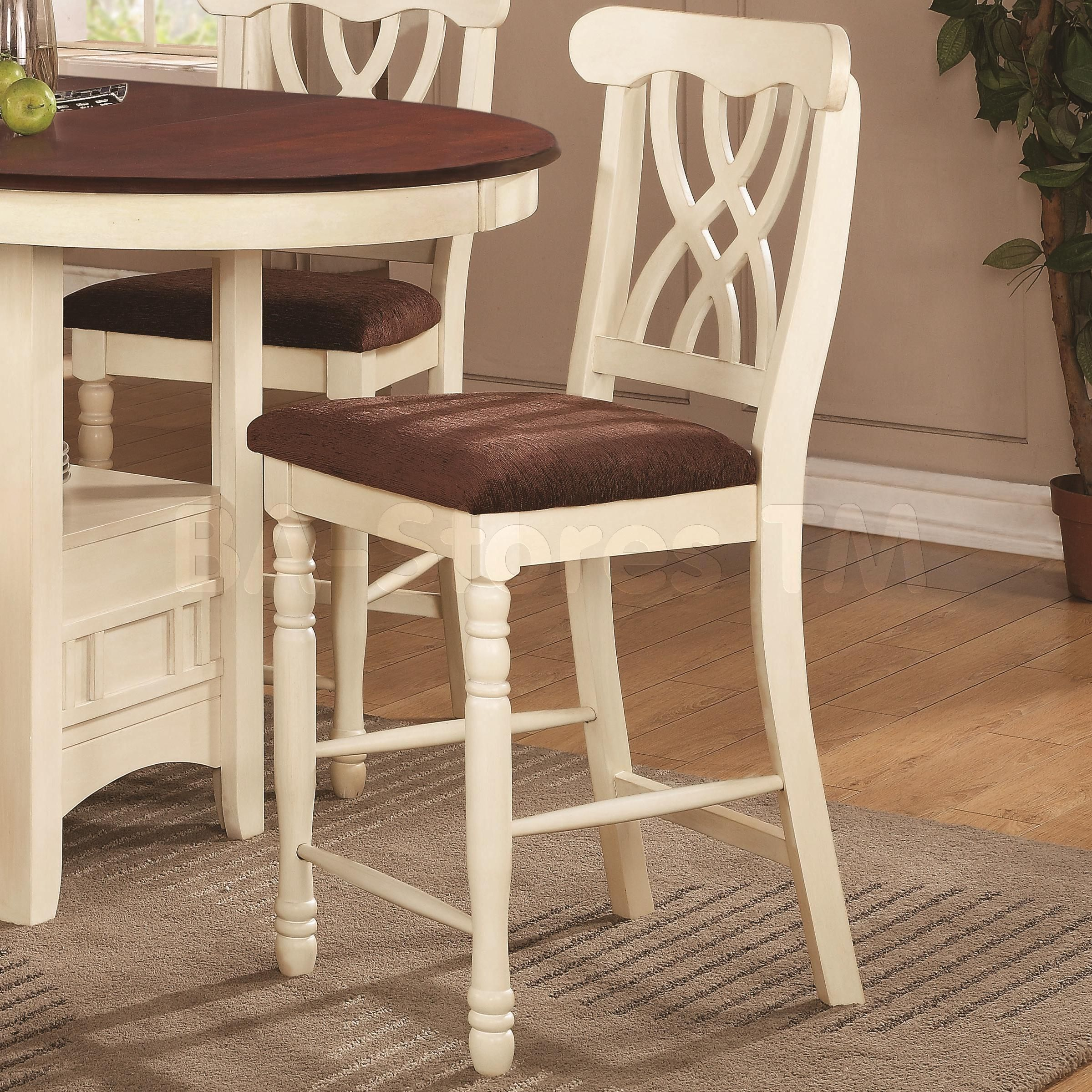 Best Addison White And Dark Cherry Counter Height Stool Set Of 400 x 300