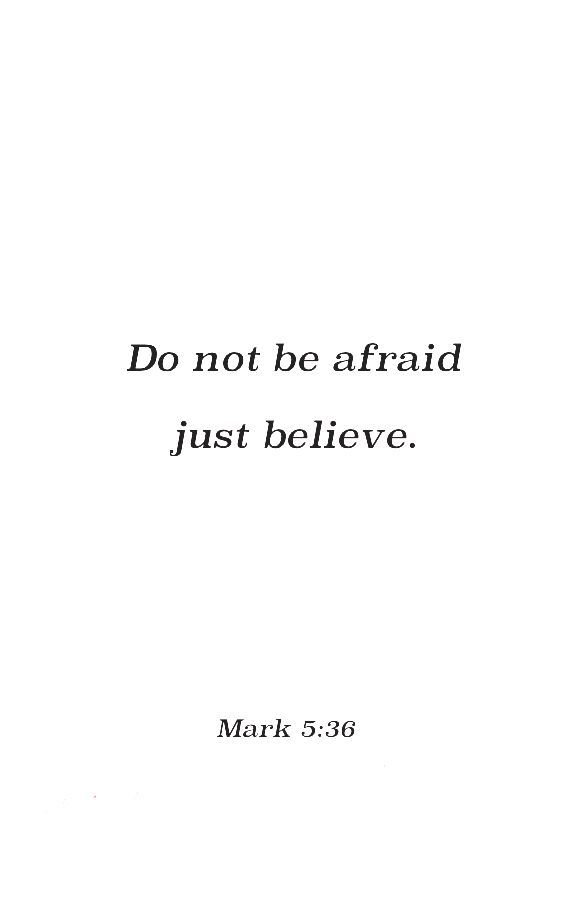 Mark 5:36 | Truth | Bible quotes, Bible verses quotes, Favorite