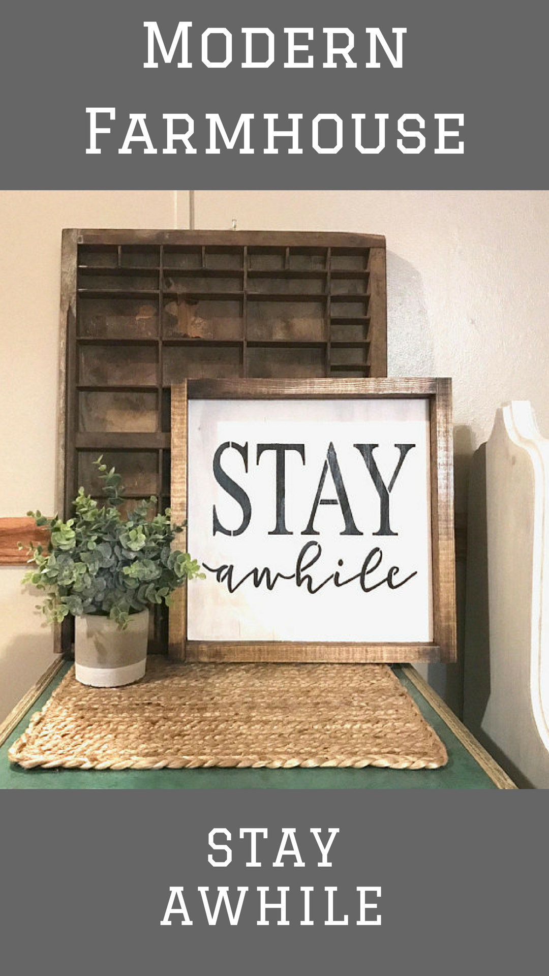 Stay Awhile Sign|stay While|framed Stay Awhile|fixerupper House|modern  Farmhouse