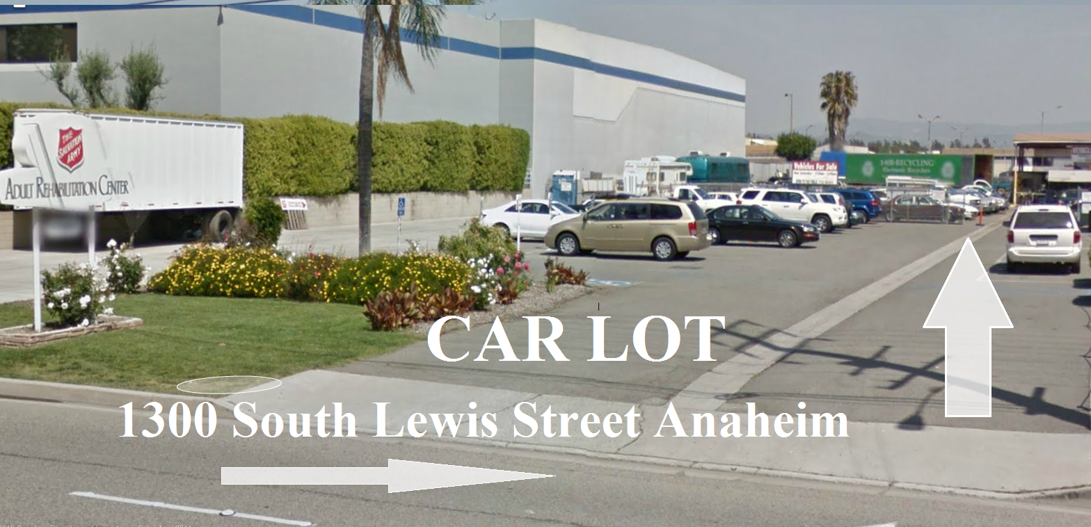 car lot 1300 south lewis street salvation army anaheim arc pre