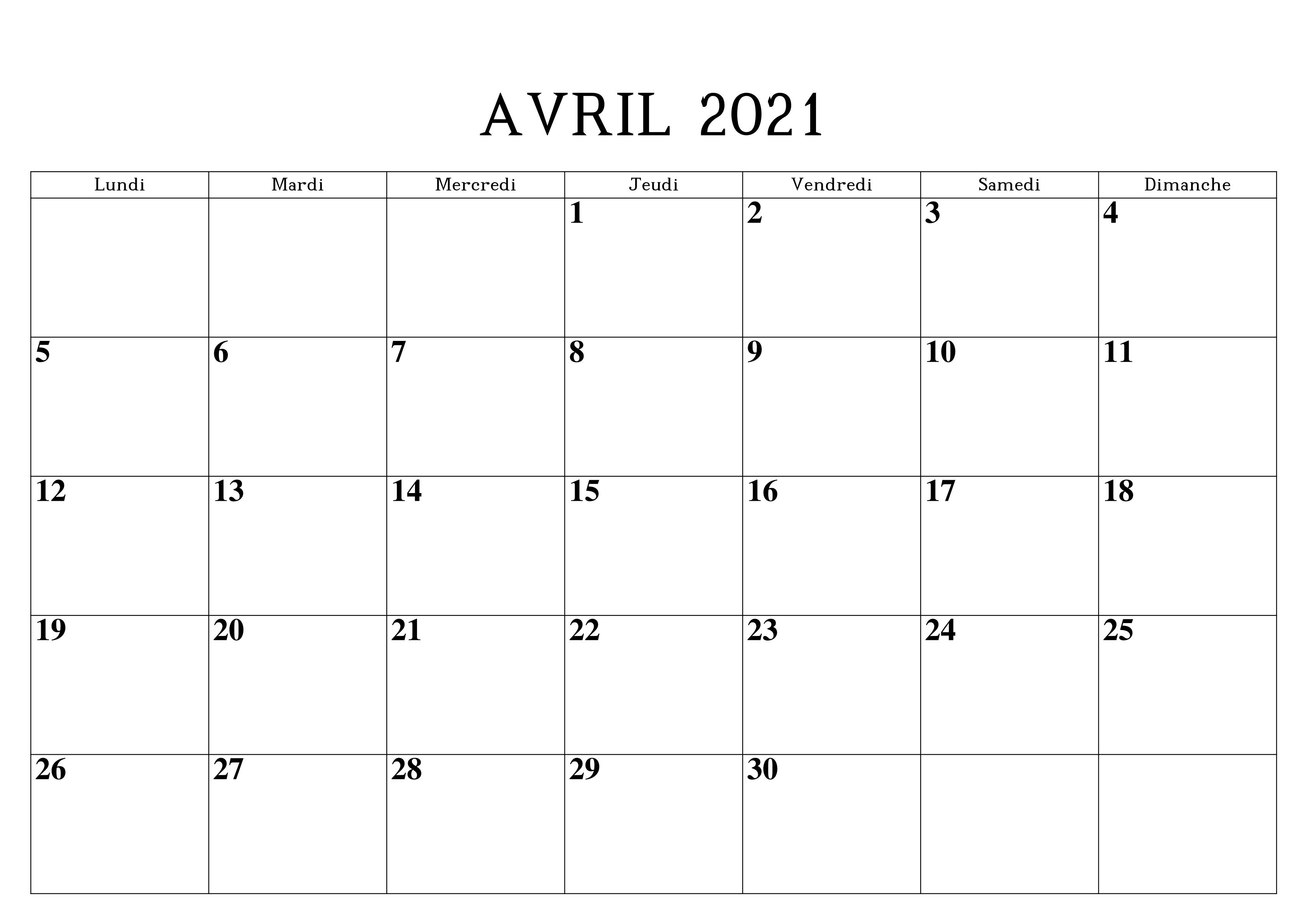 Calendrier 2021 Avril Modèles in 2020 | Calendar printables