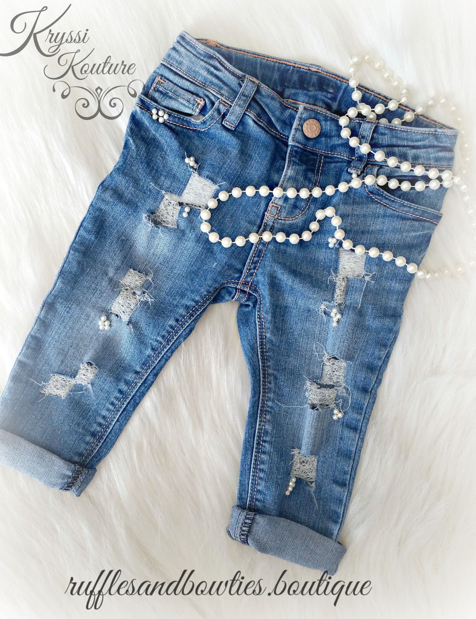 5b2697d99 Original Home of The Kryssi Kouture Distressed Pearl Jeans Our custom  distressed…