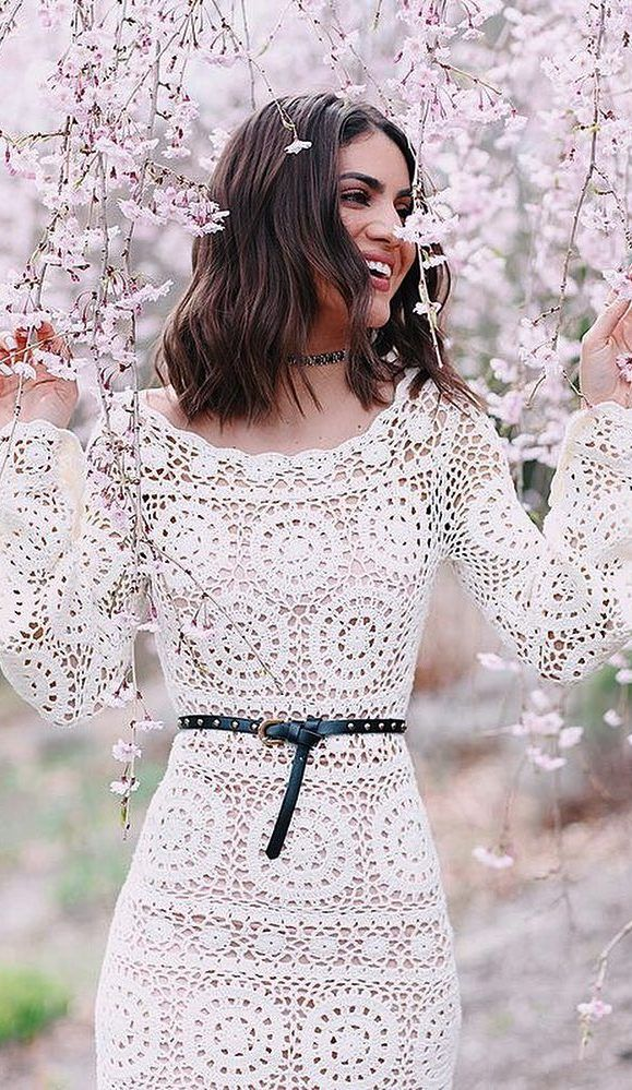 63+ Cute and Stylish Crochet Dresses Pattern Ideas For Summer - Page 3 of 63 - Women Crochet Blog