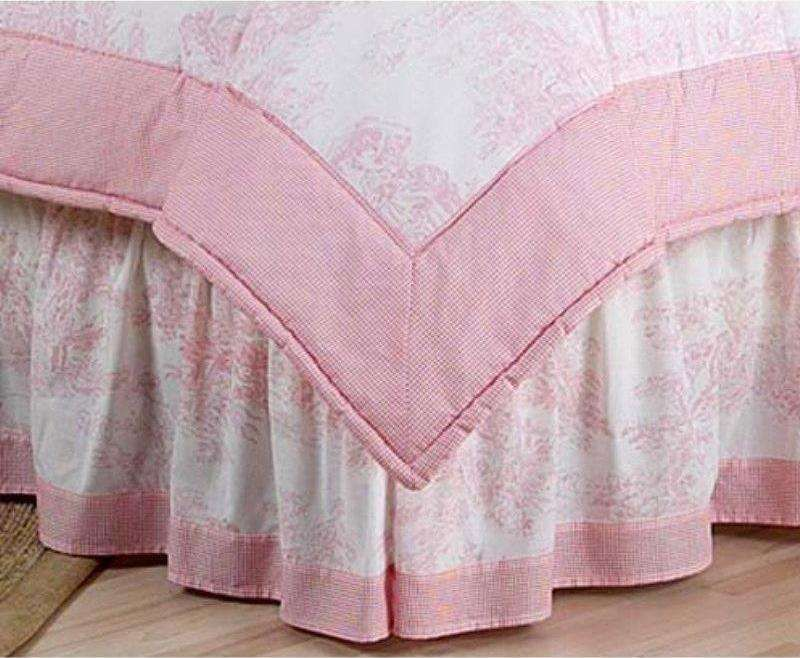 beautiful Toile Bed Skirts Part - 4: http:--www.bedding.com-jojo-designs-pink-french-toile-bed-skirt -asis-14266.jpg